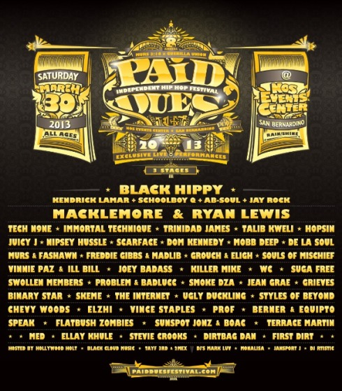 Paid Dues 2013 Flyer